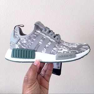 Adidas NMD R1 Grey Green Women Size 6 / Men Size 5